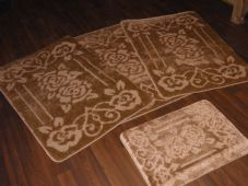 ROMANY WASHABLES TRAVELLER MATS SETS 4PCS NON SLIP GYPSY ROSE SUPER THICK BEIGE